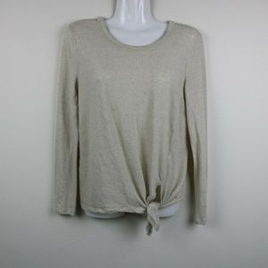 Madewell Womens Blouse Long Sleeve Knot Key Hole